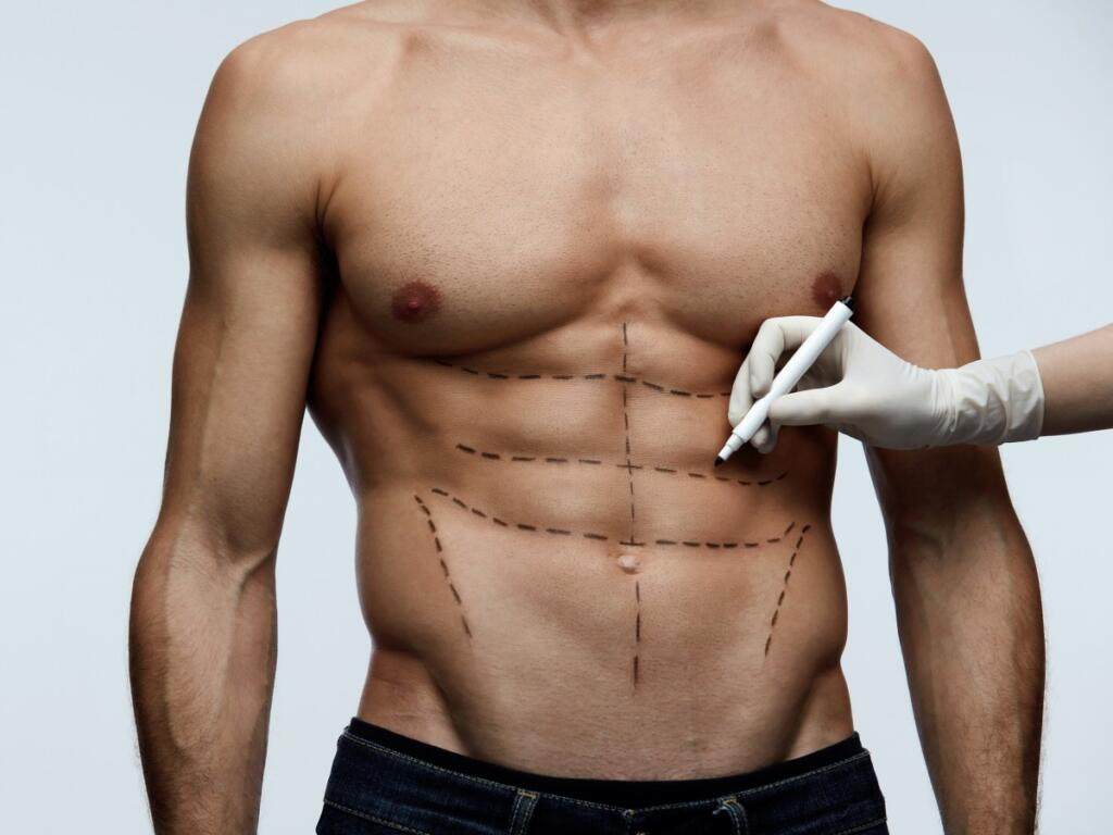 El contorno corporal y abdominal para hombres